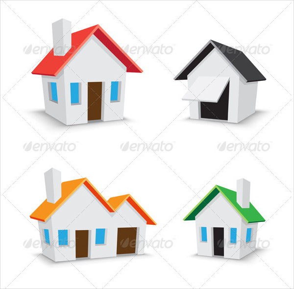 Simple Color House Icons