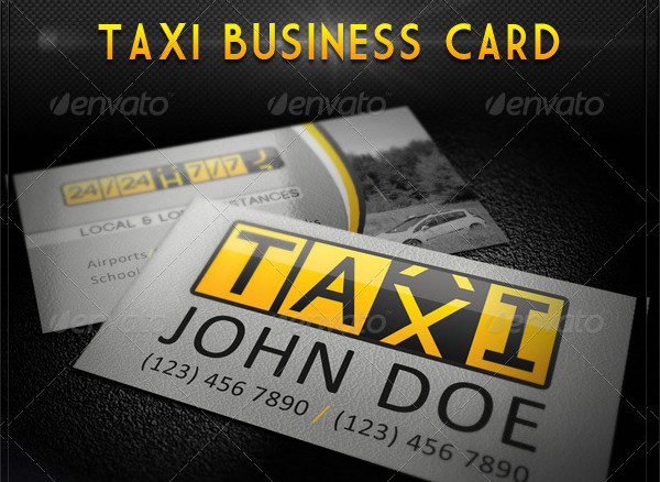 Elegant Taxi Business Card Template