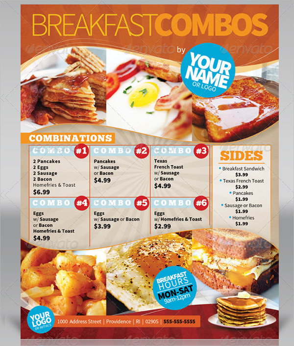 19 breakfast menu templates free premium download