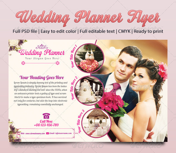 Ready to Print Wedding Designer Flyer Template