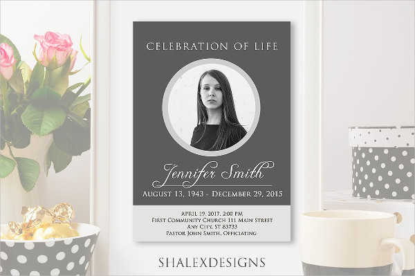 Fully Editable Funeral Program Flyer