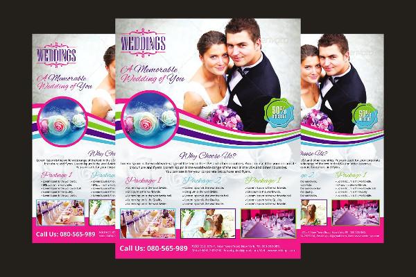 Attractive Wedding Event Planner Flyer Template