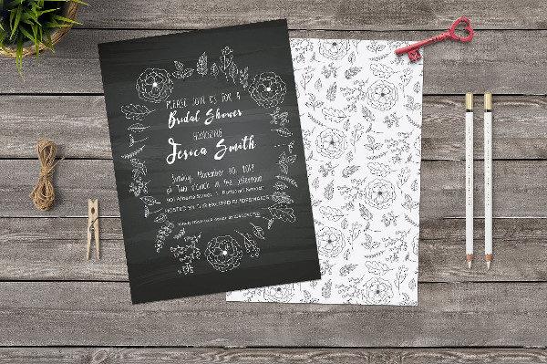 Bridal Shower Invitations Chalkboard