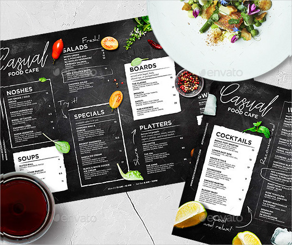 Chalkboard Cafe Menu Template