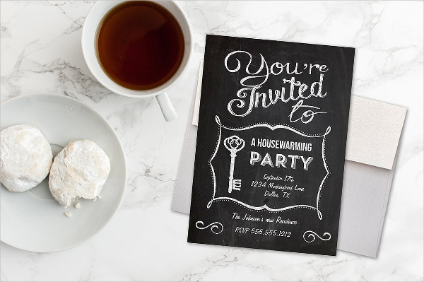 Chalkboard Housewarming Invitation Template