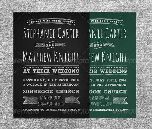 Special Chalkboard Wedding Invitations Set