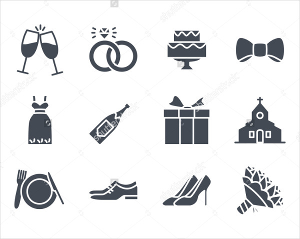 Solid Wedding Icon Pack