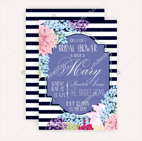 Chevron Bridal Shower Card Template