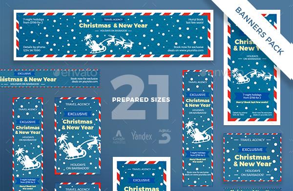 Christmas Travel Banner Pack