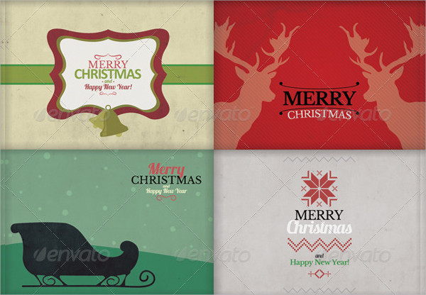 Christmas and New Year Greeting Cards Bundle