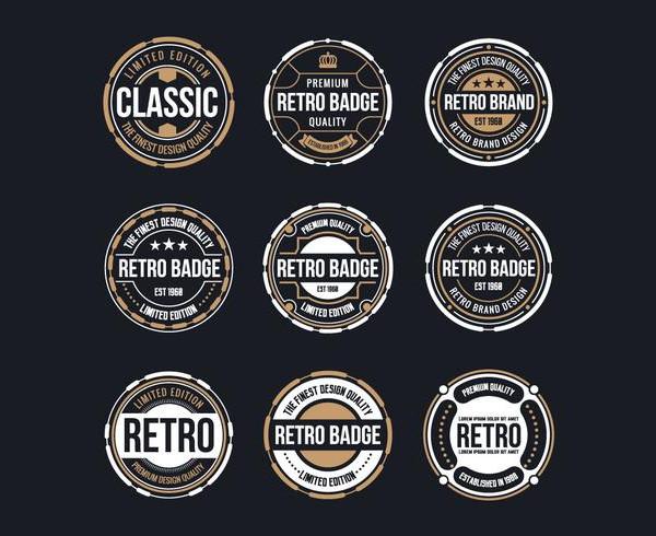 Circle Vintage And Retro Badge Design Free