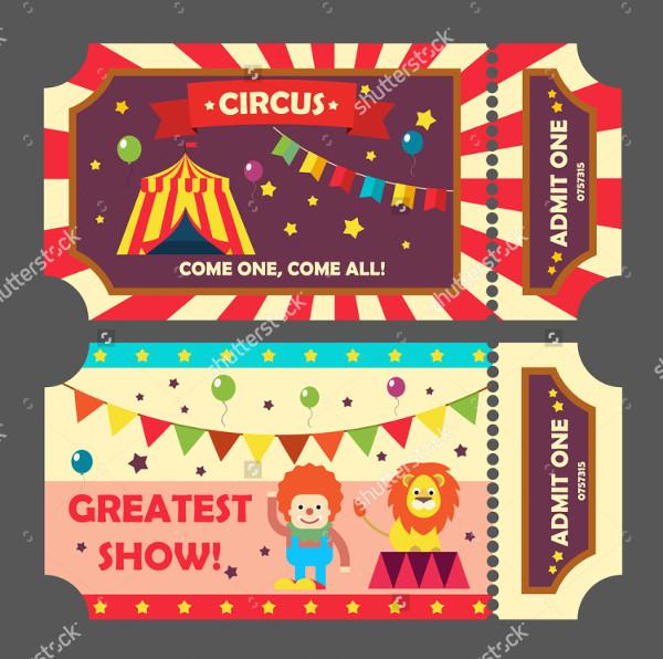 Set of Circus Ticket Templates