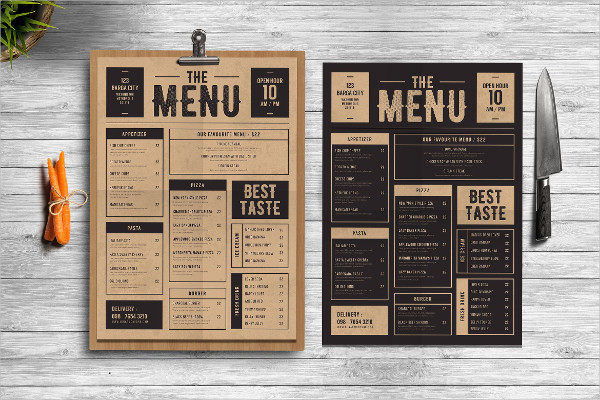 Classic Food Menu for Special Event