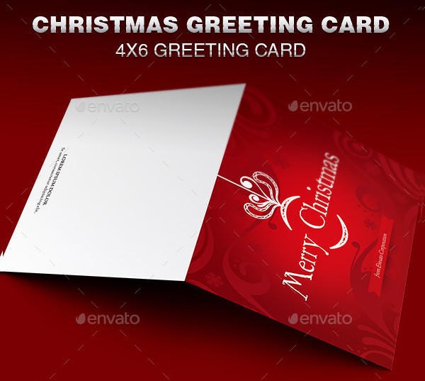 Classical Greeting Card Template for Christmas
