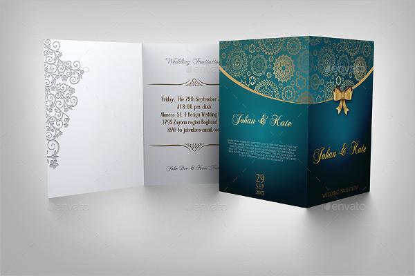 Classy Wedding Invitation Card Template
