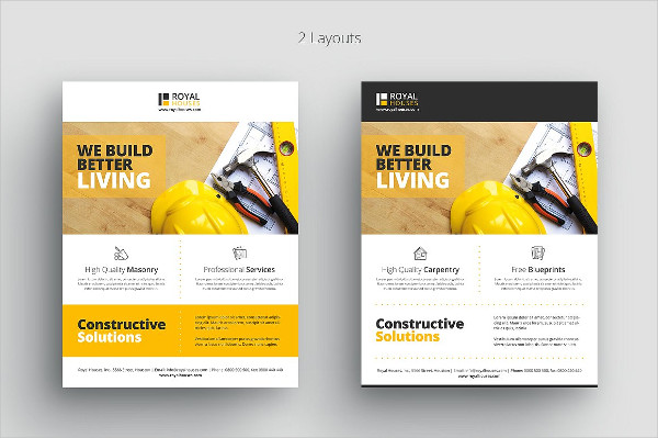 31 construction flyer templates free premium download