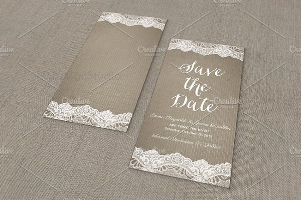 Clean Design Wedding Trifold Invitation Card