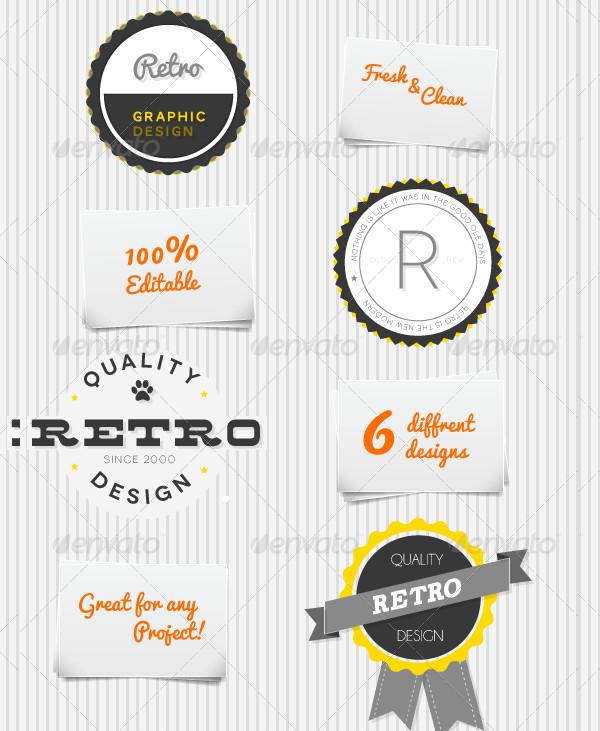 Clean Retro Print Badges
