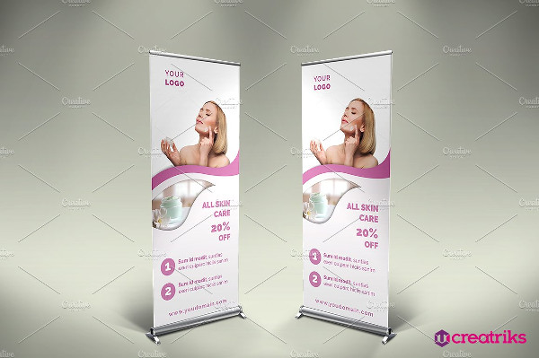 Clean Skin Care Roll Up Banner Template
