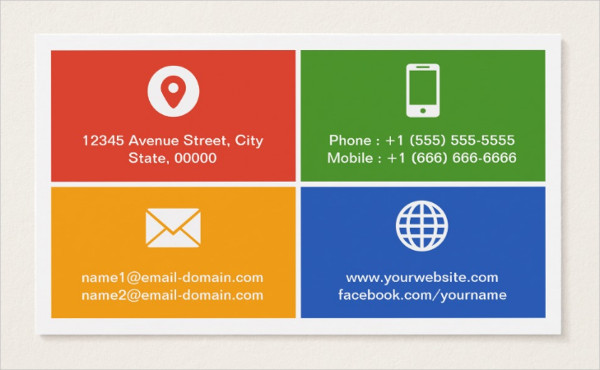 Modern Metro Style Business Card Template