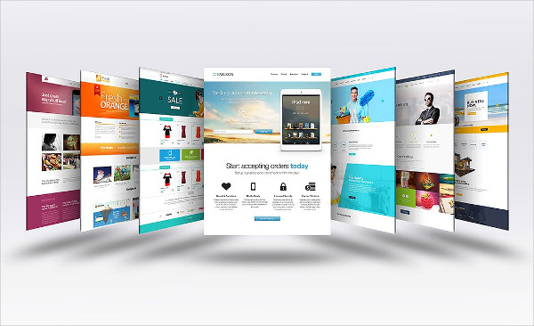 Colorful Website Display Mockup