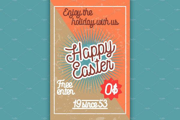 Color Vintage Easter Banner Template
