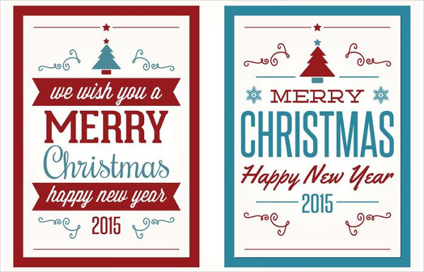 Colorful Christmas Greeting Cards Free