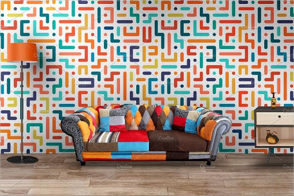 Colorful Geometric Striped Patterns