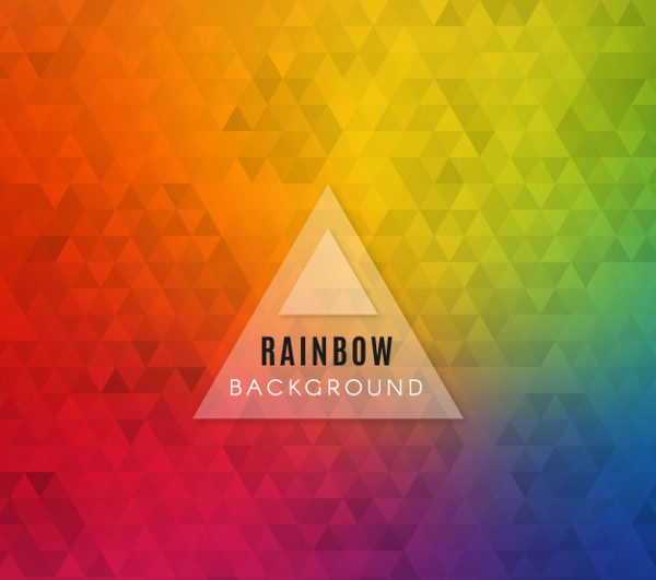 Colorful Rainbow Triangle Background Free