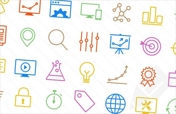 Free PSD Colorful Icons