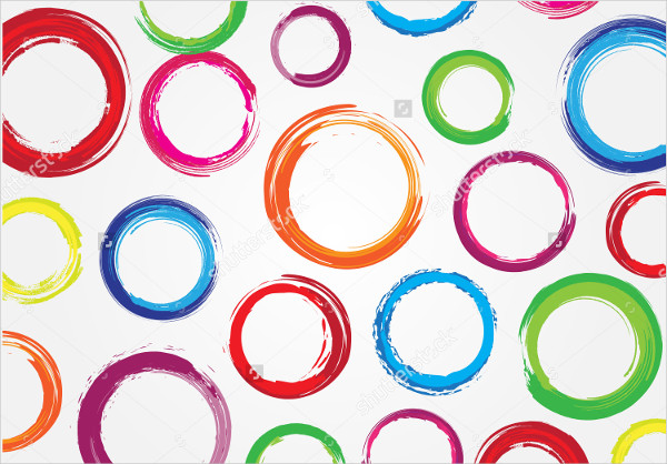 Grunge Circles Pattern Vector
