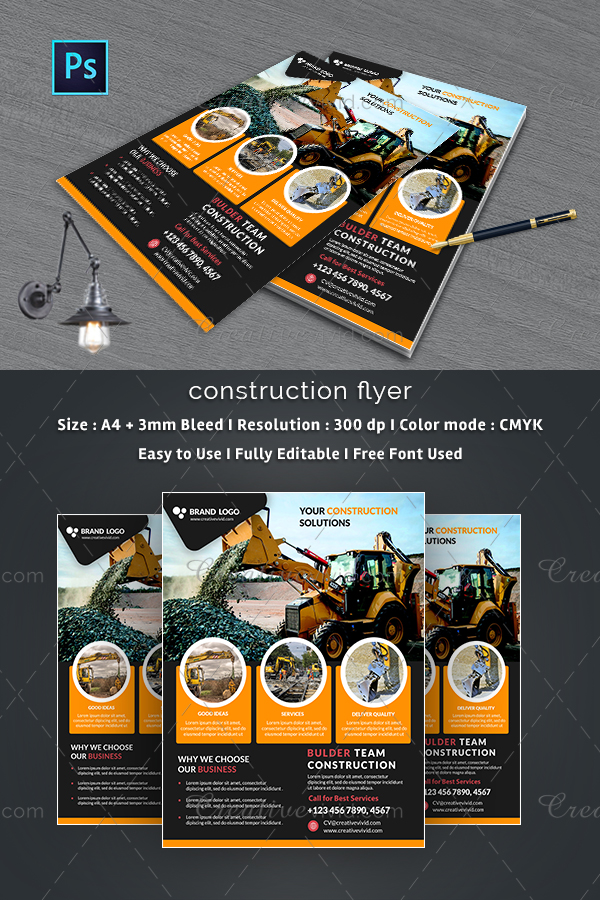 Construction Company Flyers Examples