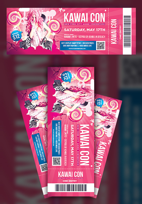 Convention Ticket Templates