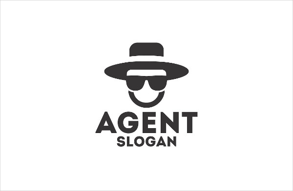 Cool Detective Agent Logo Template