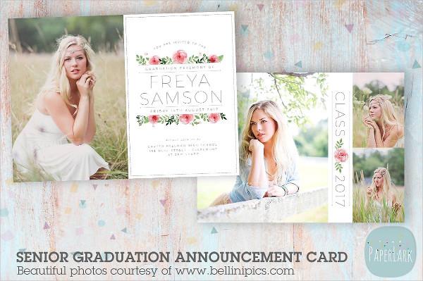 Cool Senior Graduation Card Template