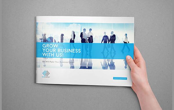 Blue Corporate Brochure Template