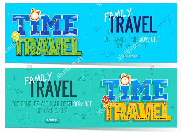 Family Travel Banner Template