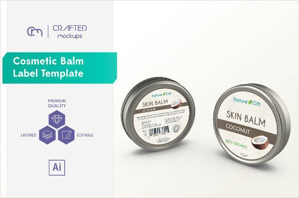 Cosmetic Balm Label Template