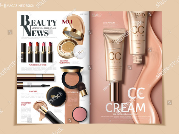 Cosmetic Product Catalog Design
