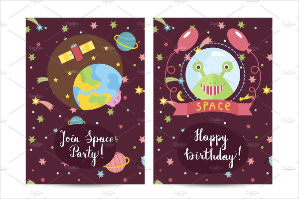 Funny Costumed Birthday Card Template