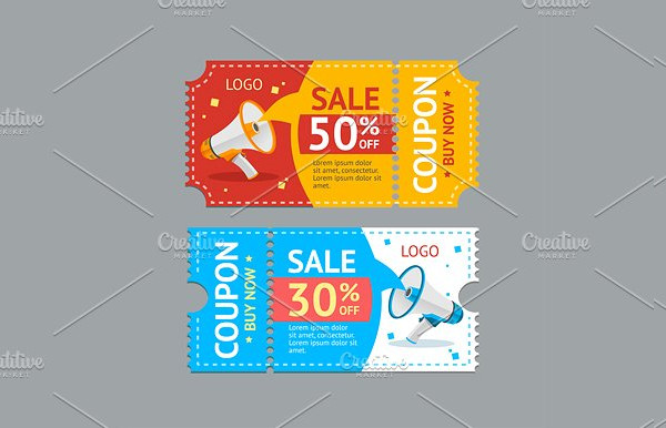 Coupon Sale Vector Template