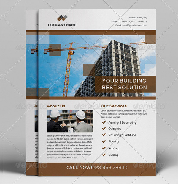 Construction Project Flyers Design