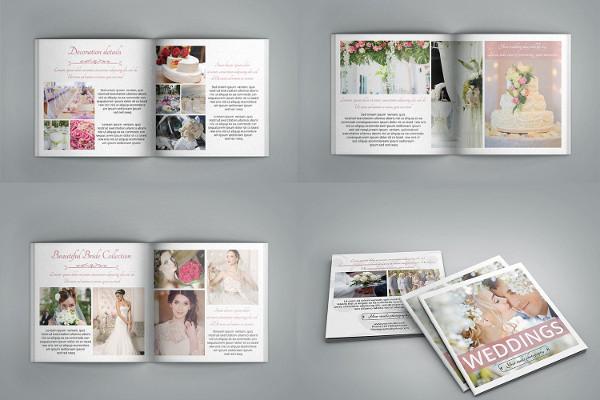 Creative Wedding Magazine Template for Photography