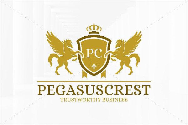 Pegasus Crest Logo Template