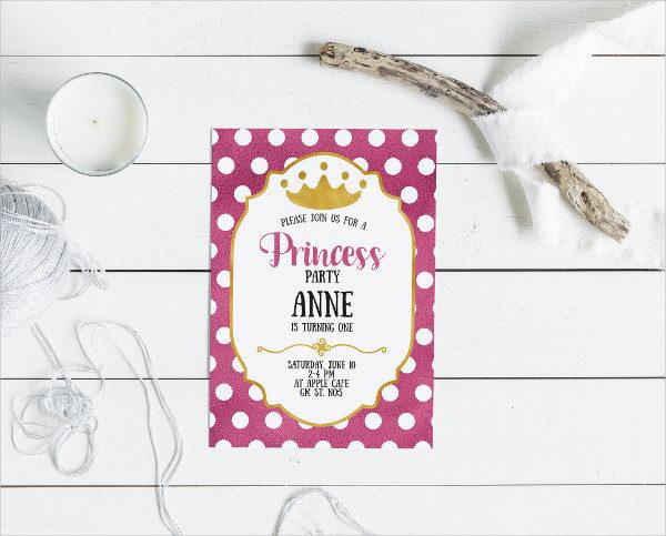 Custom Princess Birthday Invitation Card