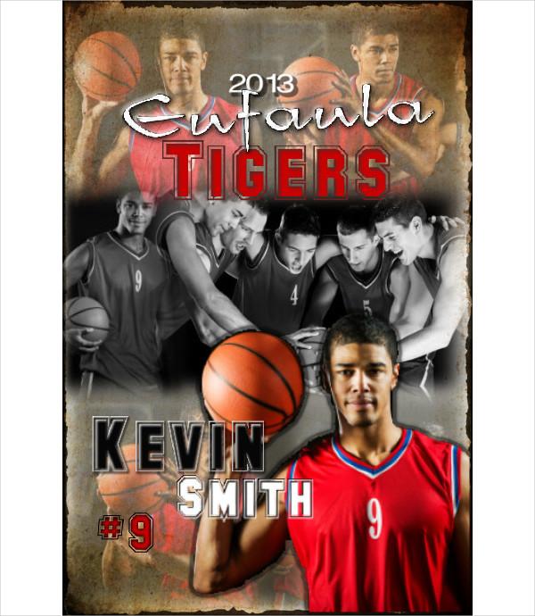 Customizable Basketball Match Poster Template