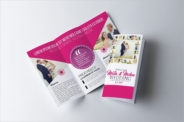 Customizable Trifold Wedding Invitation Brochure