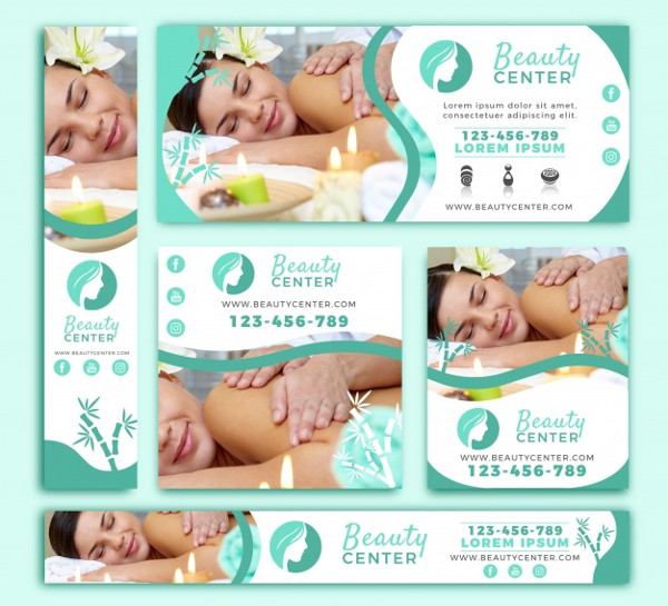 Cute Pack of Beauty Center Banners Free