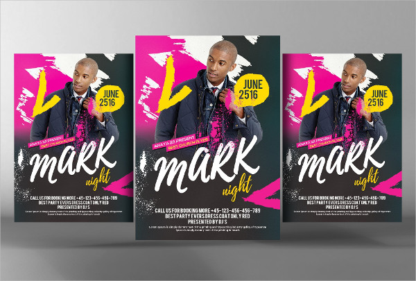 Print Ready DJ Event Flyer Template