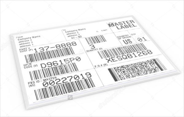 Sample Shipping Label Illustration
